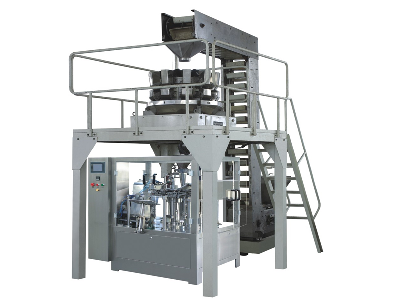 Rotary premade pouch packing machine for stand up pouch with zipper Chips